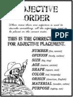 Adjective Ordine