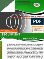 Seguimiento, Monitoreo y Evaluacion Presentacion