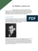 Ajedrecista -Alekhine, Alexander- Muerte- Rumores de Asesinato