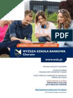 Informator 2017 - Studia I Stopnia - Wyższa Szkoła Bankowa w Chorzowie