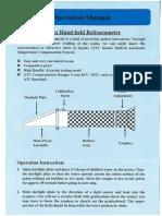 Refractometer RHB-44SATC _ Operation Manual