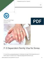 F-3 Dependent Family Visa for Korea - Hiexpat Korea