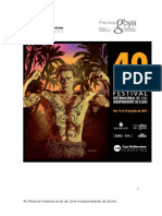 40 Festival Internacional de Cine Independiente de Elche. Avisos Legales. Del 14 al 21 de julio de 2017