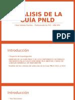 Análisis de La Guía PNLD
