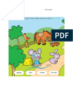 Test Paper 1st Grade Animals