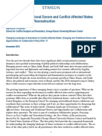 Changing Landscape of Assistance to Conflict-Affected States- Emerging and Traditional Donors and Opportunities for Collaboration Policy Brief #11