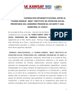 Convenio Sumak y Gad Municipal de El Chaco 2017