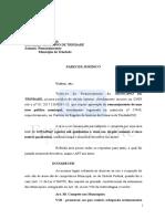 Parecer Remanejamento - Municipio de Trindade 2015006303