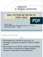 Rail System Network at Port Area