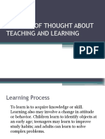 Schools of Thought About Teaching and Learning
