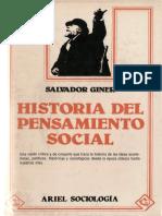 134246652 Giner Salvador Historia Del Pensamiento Social 1