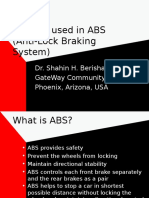 Sensors Used in ABS
