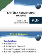 Kriteria Failure Batuan