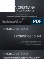 Tema 1 AMOR CRISTIANO. 1 Corintios 13, Por Azael Alvarez