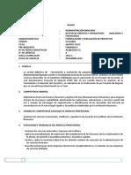 CAB Sílabo VC Formulación y Evaluación de Proyectos 2016.1