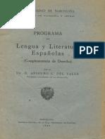 Programa Lengua y Literatura Españolas
