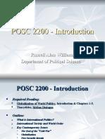 POSC 2200 - Introduction
