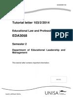 Tutorial Letter 103 2014_EDA3058