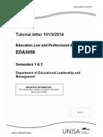 Tutorial Letter 101 2014_EDA3058