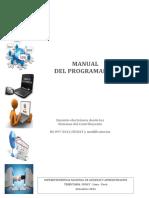 Manual Programador Setiembre 2016