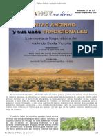 Plantas Andinas y sus usos tradicionales.pdf