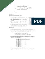 Logica e algebra
