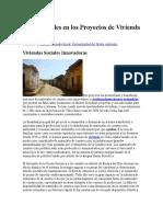 Ecomateriales en Los Proyectos de Vivienda Social
