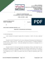 Lancaster County Court Case No. 08-CI-13373 re PRAECIPE TO ADD DEFENDANTS LAUNCH SMITH PARKING AUTHORITY April 11, 2017