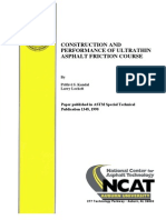 Construction and Performance of Ultrathin Asphalt Friction Course