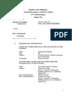 Judicial Affidavit of Maxinne Medina