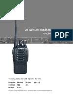 BF888S Manual