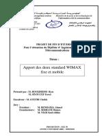 Apport Des Deux Standards WIMAX Fixe Et Mobile -SI YOUCEF & BOUKHEDIM