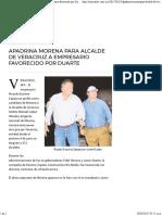 23-03-17 Apadrina Morena Para Alcalde de Veracruz a Empresario Favorecido Por Duarte – Noticaribe