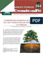 Composicion Elemental de Los Frutos de Cafe y Extracion de Nutrientes en La Cosecha
