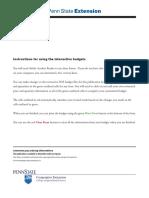 Land Preparation Budget