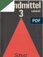 Brandmittel Lehrbrief 3 - Schutz vor Brandmitteln - H.J. Töpfer - 1983