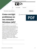 Como Corrigir Problemas No Seu Roteador Wireless (AP)