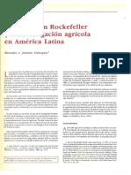 La Fundación Rockefeller y La Investigación Agrícola en América Latina