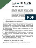 CÁLCULO MENTA Taller 1_ Pedagogica