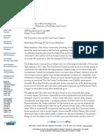 Dallas Tennis Association Letter to City Council