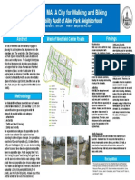 walkability poster for sneapa