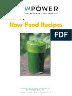 Free Raw Power Recipe Book