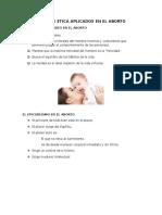 Tipos de Etica Aplicados en El Aborto