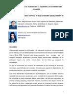 Ponencia. Ecuador, Msc. Edgar Orozco; Ing. Sandra Guerra Impacto Del Capital Humano en El Desarrollo Económico en Ecuador