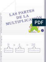 Partes de La Multiplicacion y Division