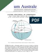 Sistema Horizontal de Coordenadas