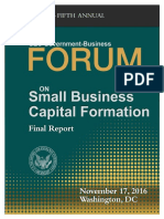 SEC Government Business Foroum on Small Business Capital Formation 2016