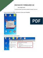 Instalacion Facilito y Formulario 110