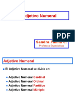 Adjetivo Numeral