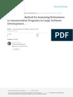 A Method for Assessing Robustness of Measurement Programs in Large Software Development